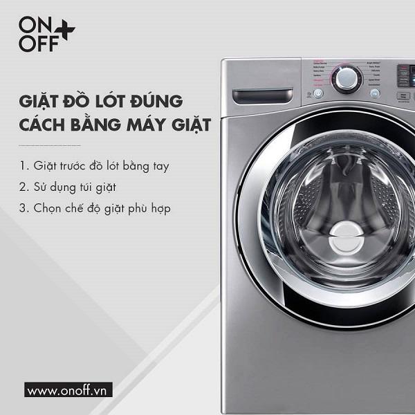 giặt đồ lót đúng cách bằng máy giặt